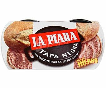 La Piara Tapa Negra Paté de hígado de cerdo  Pack de 2x115 g