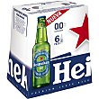 00% cerveza rubia lager sin alcohol  pack 6 botellas 25 cl Heineken