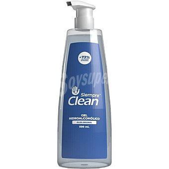 Siempre Gel hidroalcohólico higienizante 73% de alcohol olor original clean Dosificador 500 ml