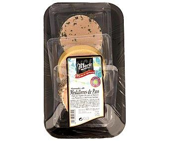 Labeyrie Surtido medallones foie gras (finas hierbas, pimienta y natural) 3 Unidades de 100 Gramos