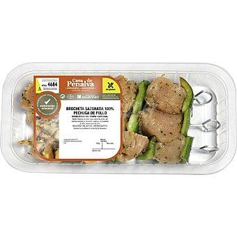 CASA DE PENALVA Brochetas de pollo adobado peso aproximado Bandeja 400 g