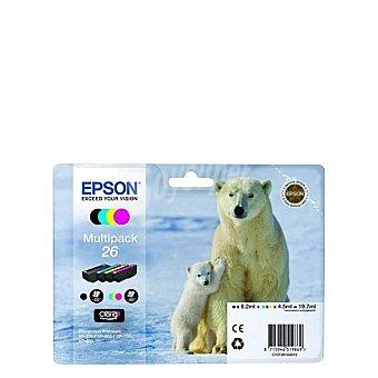 Epson C13T26164010 - cartuchos de tinta, color Pack de 4
