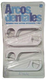 Deliplus Cepillo interdental arcos dentales recambio Paquete 20 u
