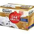 GOLD MOUSSE alimento húmedo para gatos en surtido de mousses Pack 8 + 4 x 85 g  Gourmet