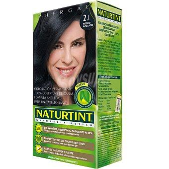 Naturtint Tinte negro azulado 2,1 color permanente sin amoniaco caja 1 unidad Caja 1 unidad