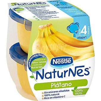 Naturnes Nestlé Tarrito de plátano 100% fruta sin azúcares añadidos +4 meses envase 260 g Pack 2 x 130 g