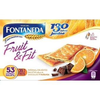 Fontaneda Fruit&fit con chocolate-naranja Caja 197 g