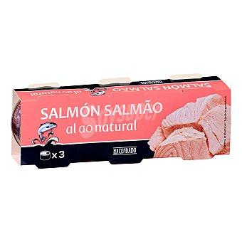 Hacendado Salmon al natural Pack 3 x 50 g peso neto escurrido