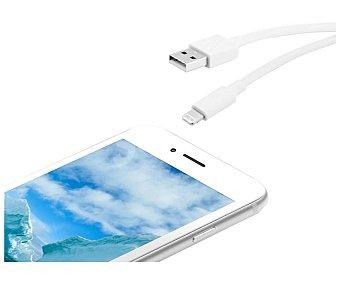 Qilive Cable conexión USB a lightning MFI, 1,2m, 2A, blanco.