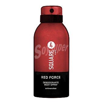 4 Square Desodorante spray hombre perfume red force (rojo) Bote 150 cc