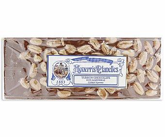 MONERRIS PLANELLES Turrón de chocolate con almendras de calidad suprema 350 gramos