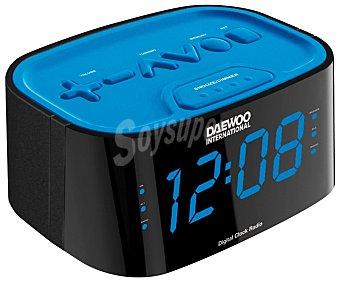 DAEWOO DCR-45 DUAL Radio reloj despertador digital con sintonizador de radio am/fm, alarma y Display