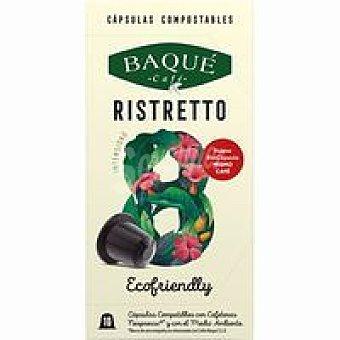 Café Baqué Café ristretto compostable Int. 8 Caja 10 monodosis