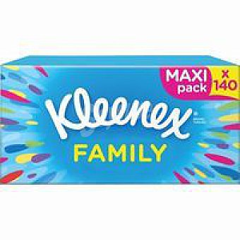 Kleenex Pañuelo facial family maxi Caja 140 uds