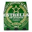 Cerveza rubia nacional Pack 6 botellines x 25 cl Estrella Levante