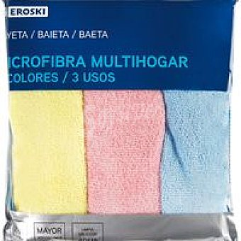 Eroski Bayeta microfibra Pack 3 unid