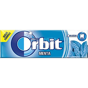 Orbit Chicle sin azúcar sabor peppermint 10 grageas