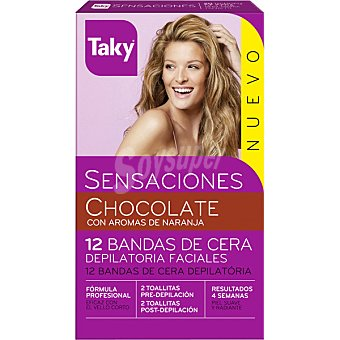 Taky Bandes facials Sensaciones aroma chocolate naranja 12 unidades
