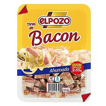 ElPozo tiras de bacon ahumado natural pack 2 envases 55 g