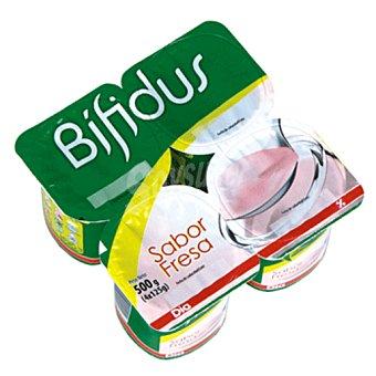 DIA Yogur bífidus fresa pack 4 unidades 125 g
