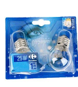 Carrefour 2 bombillas esfericas clara 25W e 27 Carrefour