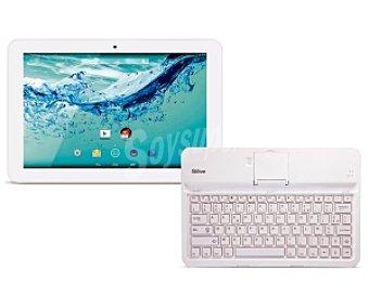 """QILIVE 853648 Tablet + teclado Bluetooth con pantalla de 10,1"""", Tablet 10,1"""""""
