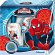 Pack eau de toilette infantil + gel de baño frasco 250 ml estuche 1 unidad spray 50 ml Spiderman