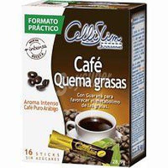 Cellislim Café con guarana Caja 16 sobres