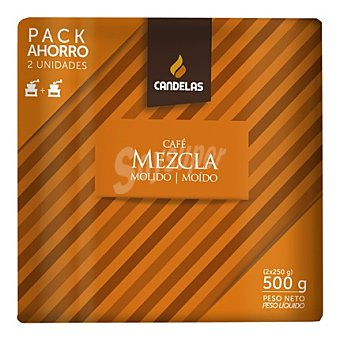 Candelas Café molido mezcla Pack 2x250 g