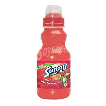 SUNNY DELIGHT Refresco sabor fresa-naranja PET 310 ml