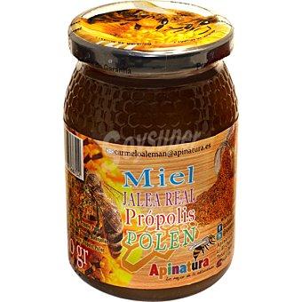 APINATURA miel con jalea real própolis y polen  tarro 250 g