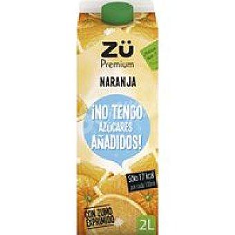 Zü Premium Néctar de naranja exp. sin azúcar Brik 2 litros
