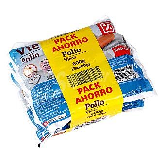 DIA Salchichas viena de pollo Pack 3 x 200 gr