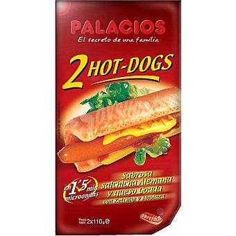 Palacios hot dog salchicha alemana y queso gouda Envase 220 g