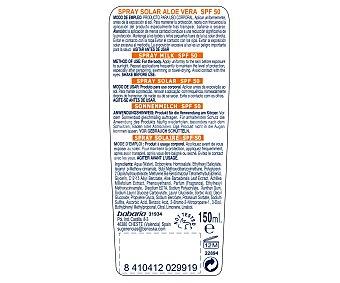Babaria Protector solar en spray especial para bebes, con factor de protección 50 (alto) 150 ml