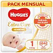 Pañales extra care T1 (2-5 kg) 84 ud Huggies
