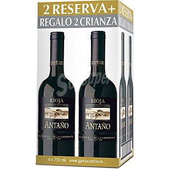 Antaño Vino tinto reserva caja + regalo vino tinto crianza 2 botellas 75 cl