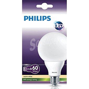 Philips 9,5 W (60W) lámpara LED blanco cálido casquillo E27 (grueso) Estandar Opaca 1 unidad