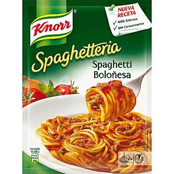 KNORR SPAGHETTERIA Espaguetis a la boloñesa Sobre 162 g