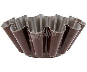 Auchan Molde redondo y rizado para brioche, fabricado en metal antiadherente, 22cm. de diámetro auchan