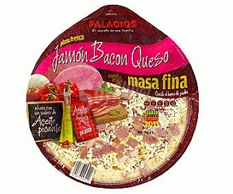 Palacios Pizza fresca con Jamón y Bacón con Queso 370 g