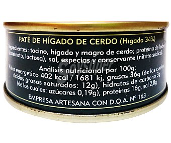 Munar Paté de hígado de cerdo natural y picante 95 gramos