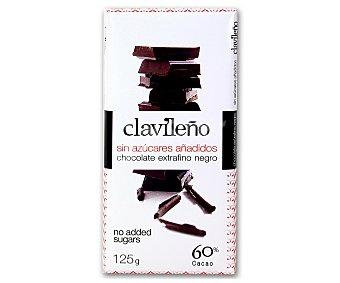 Clavileño Chocolate extrafino negro sin azúcares añadidos 125 gramos
