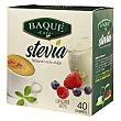 Edulcorante de stevia en sobres Baqué 40 unidades de 1 g La Planta