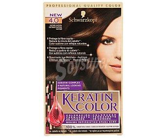 Keratin Color Schwarzkopf Tinte nº 4.0 castaño natural coloracion permanente de cuidado caja 1 unidad Caja 1 unidad