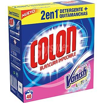 Colón Detergente maquina en polvo con agentes Vanish Ultra quitamanchas maleta 40 cacitos 40 cacitos