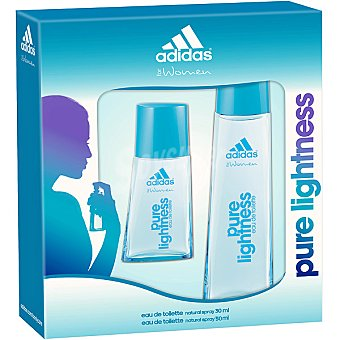 Adidas Eau de toilette natural femenina Pure Lightness + miniatura spray 30 ml Spray 50 ml
