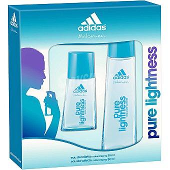 Adidas Eau de toilette natural femenina Pure Lightness + miniatura spray 30 ml Spray 50 ml