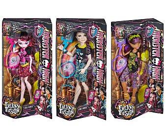 MONSTER HIGH Muñecas Monster High Básicas, 3 modelos diferentes 1 Unidad
