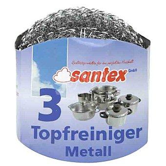 Santex Estropajo metálico Envase 3 unidades